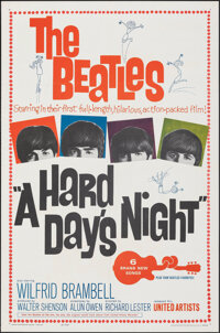 """A Hard Day's Night (United Artists, 1964). Folded, Very Fine/Near Mint. One Sheet (27"""" X 41""""). Rock and Roll..."""