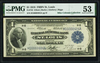 Fr. 732 $1 1918 Federal Reserve Bank Note PMG About Uncirculated 53