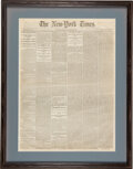 Miscellaneous:Newspaper, New York Times: First Printing of the Gettysburg Address.... (Total: 2 Items)