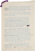 Autographs:U.S. Presidents, Franklin D. Roosevelt: Hand Annotated Speech as Governor of New York....