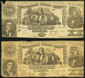 T20 $20 1861 Two Examples Very Good or Better. ... (Total: 2 notes)