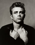 Photographs, Roy Schatt (American, 1909-2002). James Dean (from Torn Sweater series), 1954. Gelatin silver, printed later. 18 x 14 in...