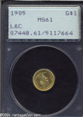 Commemorative Gold: , 1905 G$1 Lewis and Clark MS61 PCGS. Subtly variegated ...