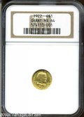 Commemorative Gold: , 1922 G$1 Grant no Star MS64 NGC. Typically well struck ...