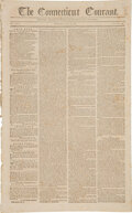 Miscellaneous:Newspaper, Connecticut Courant July 27, 1795: Jay Treaty between US and Great Britain....