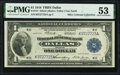 Fr. 741 $1 1918 Federal Reserve Bank Note PMG About Uncirculated 53