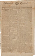 Miscellaneous:Newspaper, Columbian Centinel (Boston, Ma.) March 14, 1792: Ratification of the Bill of Rights....