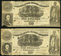 T30 $10 1861 Two Examples Very Good. ... (Total: 2 notes)