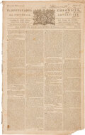 Miscellaneous:Newspaper, Pennsylvania Chronicle and Universal Advertiser (Philadelphia) February 2, 1767: Repeal of the Stamp Act....