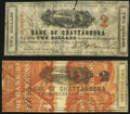 Chattanooga, TN-Bank of Chattanooga $2 Aug. 1862 Two Examples Fine. ... (Total: 2 notes)
