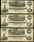T39 $100 1862 Three Examples Very Fine or Better. ... (Total: 3 notes)