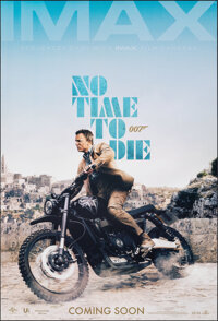 """No Time to Die (United Artists, 2020). Rolled, Very Fine/Near Mint. IMAX One Sheet (27"""" X 39.75"""") DS Advance..."""
