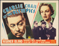 """Movie Posters:Mystery, Charlie Chan at the Olympics (20th Century Fox, 1937). Very Fine-. Title Lobby Card (11"""" X 14""""). Mystery.. ..."""