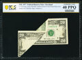 Error Notes:Foldovers, Foldover Error Fr. 2072-D $20 1977 Federal Reserve Note. PCGS Banknote Extremely Fine 40 PPQ.. ...