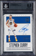 Basketball Cards:Singles (1980-Now), 2019-20 Panini Encased Endorsements Stephen Curry Autograph #EN-SCY BGS NM-MT+ 8.5, Auto 10 - Serial Numbered 13/49....