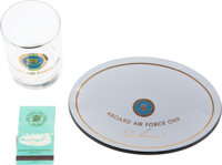 John F. Kennedy: Air Force One Candy Dish, Glass and Matchbook