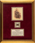 Political:Presidential Relics, Abraham Lincoln: Six Strands of Hair. ...