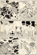 Original Comic Art:Story Page, Jack Kirby and Joe Sinnott Fantastic Four #72 Story Page 9 Silver Surfer Original Art (Marvel, 1968)....
