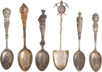 Sterling Spoons: Native American, Political, Mining and Patriotic Themes