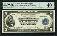 Fr. 783 $5 1918 Federal Reserve Bank Note PMG Extremely Fine 40