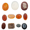 Estate Jewelry:Unmounted Gemstones, Stone, Glass Intaglios and Cameo. ... (Total: 11 Items)