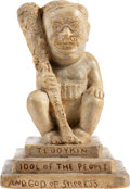 """Political:3D & Other Display (1896-present), Theodore Roosevelt: """"Teddykin Idol of the People"""" Plaster Figurine...."""