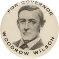 Political:Pinback Buttons (1896-present), Woodrow Wilson: Gubernatorial Pinback with Presidential Calling Card.... (Total: 2 Items)