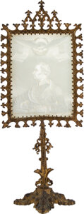 Political:3D & Other Display (pre-1896), Zachary Taylor: Lithophane with Original Stand...