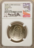 Modern Issues, 2019-D 50C Apollo 11 50th Anniversary, Early Releases, Mike Castle Signature, MS70 NGC. NGC Census: (0). PCGS Population: (...