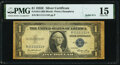 Small Size:Silver Certificates, Solid 1 Serial Fr. 1614 $1 1935E Silver Certificate. PMG Choice Fine 15.. ...