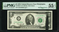 Black Ink Smear on Face Error Fr. 1935-C $2 1976 Federal Reserve Note. PMG About Uncirculated 55 EPQ