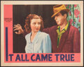 """Movie Posters:Crime, It All Came True (Warner Bros., 1940). Very Fine. Lobby Card (11"""" X 14""""). Crime.. ..."""