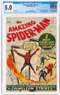 Silver Age (1956-1969):Superhero, The Amazing Spider-Man #1 (Marvel, 1963) CGC VG/FN 5.0 Off-white to white pages....