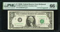 Joseph W. Barr Courtesy Autographed Fr. 1902-E $1 1963B Federal Reserve Note. PMG Gem Uncirculated 66 EPQ