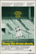 """Movie Posters:Sports, Bang the Drum Slowly (Paramount, 1973). Folded, Fine+. One Sheet (27"""" X 41""""). Sports.. ..."""