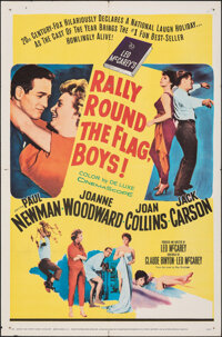 "Rally 'Round the Flag, Boys! & Other Lot (20th Century Fox, 1959). Folded, Overall: Fine+. One Sheets (2) (27""..."