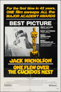 """Movie Posters:Academy Award Winners, One Flew Over the Cuckoo's Nest & Other Lot (United Artists, 1975). Folded, Fine. One Sheets (3) (27"""" X 41"""") Academy Award S... (Total: 3 Items)"""