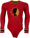 Football Collectibles:Uniforms, 1933 George Hurley Boston [Washington] Redskins Game Worn Jersey--The Very First Redskins Jersey!... (Total: 2 items)