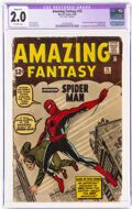 Silver Age (1956-1969):Superhero, Amazing Fantasy #15 Trimmed (Marvel, 1962) CGC Apparent GD 2.0 Off-white pages....