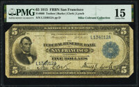 Fr. 808 $5 1915 Federal Reserve Bank Note PMG Choice Fine 15