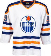 1979-80 Wayne Gretzky Game Worn Edmonton Oilers Rookie Jersey—Photo Matched to His First NHL Home Game and Others!