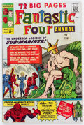 Silver Age (1956-1969):Superhero, Fantastic Four Annual #1 (Marvel, 1963) Condition: VG-....