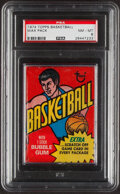 Basketball Cards:Unopened Packs/Display Boxes, 1974 Topps Basketball Unopened Wax Pack PSA NM-MT 8 - Walton & Gervin Rookie Year!...