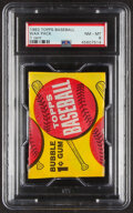 Baseball Cards:Unopened Packs/Display Boxes, 1963 Topps Baseball 1-Cent Wax Pack PSA NM-MT 8. ...
