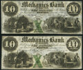 Obsoletes By State:Tennessee, Memphis, TN- Mechanics Bank of Memphis $10 (2) Mar. 1, 1855 Choice Crisp Uncirculated.. ... (Total: 2 notes)