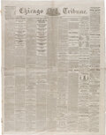 Miscellaneous:Newspaper, Chicago Tribune March 6, 1865: Second Inauguration of President Lincoln....
