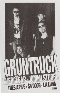 "Everclear / Gruntruck La Luna Concert Poster (1994). Rolled, Near Mint. Concert Poster (11"" x 17""). Rock and R..."