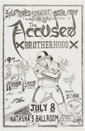 """The Accüsed / Brotherhood Natasha's Concert Poster (1989). Rolled, Very Good/Fine. Concert Poster (11"""" x 17&qu..."""