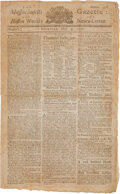 Miscellaneous:Newspaper, Massachusetts Gazette and the Boston Weekly News-Letter May 9, 1771 Reverend George Whitefield. ...