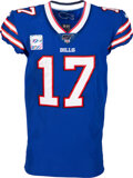 Football Collectibles:Uniforms, 2019 Josh Allen Game Worn Buffalo Bills Unwashed Jersey--Photo Matched to 10/6 vs. Tennessee Titans & NFL Authentic....